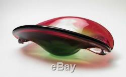 Vintage Italian Murano Glass Art Bowl MID Century Modern Eames Era