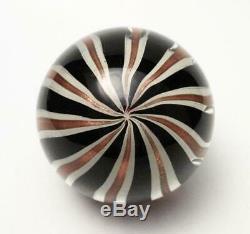 Vintage Italian Murano Glass Paperweight Zebratti Striped Barovier Toso