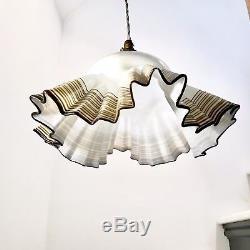 Vintage Italian handkerchief style Murano glass pendant light, circa 1960/70's