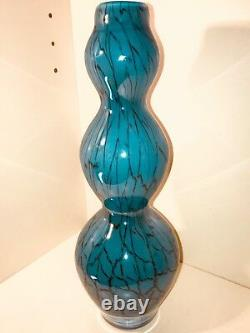 Vintage MCM Italian Murano Art Glass Triple Gourd Vase 12