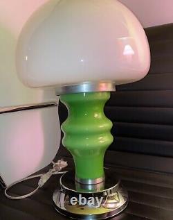 Vintage MCM Mushroom Lamp Murano Mazzega glass