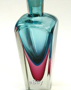 Vintage MURANO Karaffe, Flakon, Sommerso, Italy, Murano glass, 31 cm, 12,13
