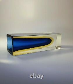 Vintage Mandruzzato Multi Rich Sommerso Murano Faceted Art Glass Vase