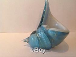 Vintage Mid Century Modern Murano Art Glass Barovier Toso Cornucopia Ashtray