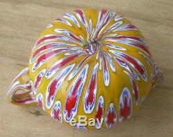 Vintage Mini Murano Millefiori Beads Floral Bowl Vase Venetian