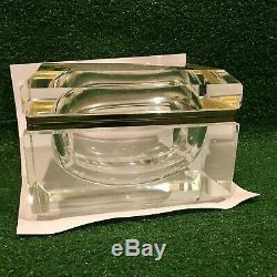 Vintage Murano Alessandro Mandruzzato Italian Glass sommerso Faceted Trinket Box