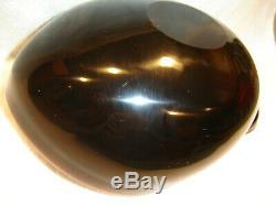 Vintage Murano Alfredo Barbini Pink & Black Shell Art Glass Bowl Ash Tray 1950's