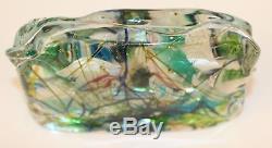 Vintage Murano Aquarium Glass Block Paperweight Excellent
