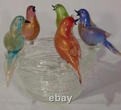 Vintage Murano Art Glass Bird Bath Bowl