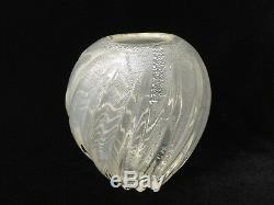 Vintage Murano Art Glass Yellowish White Vase, 7 Tall x 6 Widest x 4 1/2 Deep