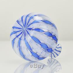 Vintage Murano Art Glass Zanfirico Ribbon Vase Seguso Toso Salviati Mid Century