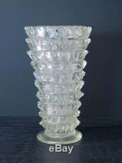 Vintage Murano Barovier Rostrato glass vase Toso Barovier