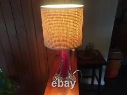 Vintage Murano Bullicante Sommerso Table Lamp in Clear, Red and Blue. PAT Tested
