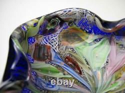 Vintage Murano Glass Avem Tutti Frutti End Of Day Cased Bowl MID Century Italian