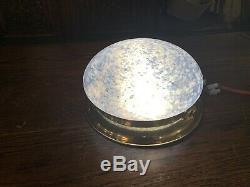 Vintage Murano Glass Ceiling Light, Gold Gilt Flush Mount