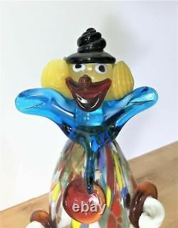 Vintage Murano Glass Clown Figurine. Excellent condition. Hand blown original
