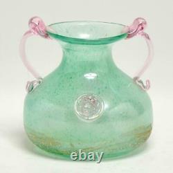 Vintage Murano Glass Green/pink, Lion Head Prunts Gambino & Poggi