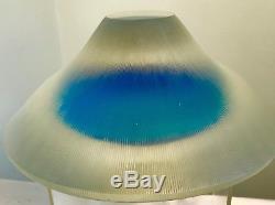 Vintage Murano Glass Inciso Bowl Alfredo Barbini Mint Condition