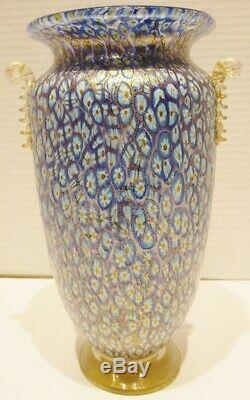 Vintage Murano Glass Millefiori / Murrine Glass Vase Attributed Amedo Rossetto