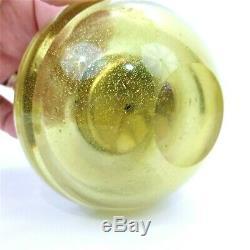 Vintage Murano Glass Smokers Set Ashtray Lighter Cigarette Holder Gold Foil Oro