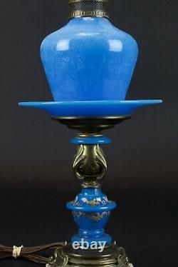 Vintage Murano Glass Table Lamp Blue