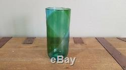 Vintage Murano Glass by Tapio Wirkkala for Venini Blue and Green Vase Signed