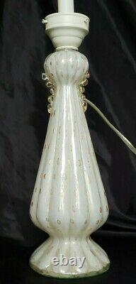 Vintage Murano Italian Art Glass Gold Bubbles Barovier Toso Table Lamp