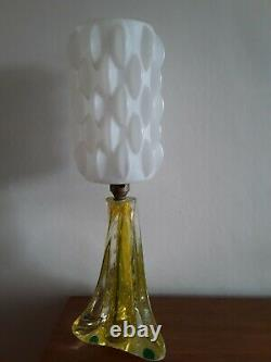 Vintage Murano Mid Century Glass Lamp Original Space Age Shade 1960s/70s Retro
