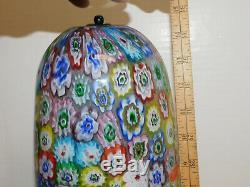 Vintage Murano Millefiori Glass Lamp 15