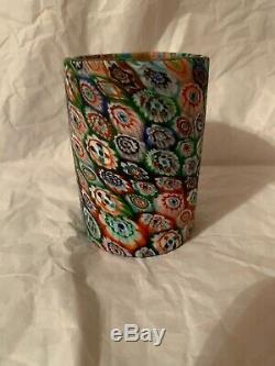 Vintage Murano Millefiori Glass Tumbler