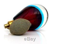 Vintage Murano Sommerso Art Glass Perfume Scent Bottle Flavio Poli Seguso