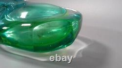 Vintage Murano Sommerso Large Glass Fish Tail Vase MID Century