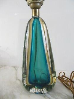 Vintage Murano Sommerso Venetian Art Glass Lamp Base