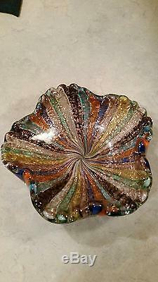 Vintage Murano Tutti Frutti Bowl (Very Rare Colors!)