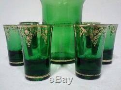 Vintage Murano Venetian Decanter Cordial Barware Retro Liquor Glass Scotch Shot