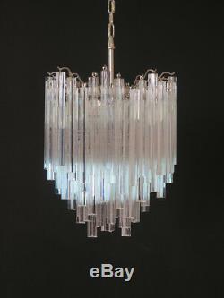 Vintage Murano chandelier 92 trasparent prism triedri
