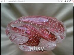 Vintage Murano documented to Archimede Seguso bullicante bubble glass bowl 1950s