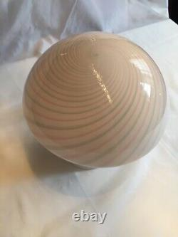 Vintage Mushroom Style Murano Glass Table Lamp