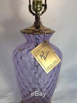 Vintage PAUL HANSON Table Lamp Murano Italian Art glass 31 Tall
