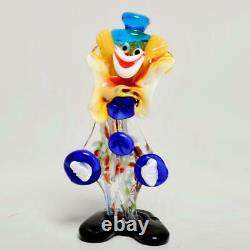 Vintage Pair (2) Murano Glass Clowns, 9