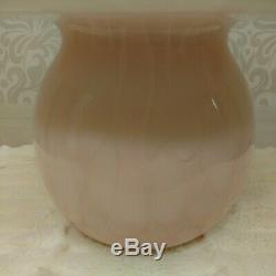 Vintage Pink All Glass Mushroom Table Lamp Murano Italy 14 Inch Mid Century