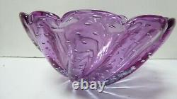 Vintage Purple Amethyst Control Bubble Bowl Murano Studio MID Century
