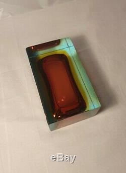 Vintage Rare 60s Murano Italian Glass Faceted/sommerso Bowl Luigi Mandruzzato