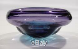Vintage Retro Italian Murano Art Glass Bowl Purple