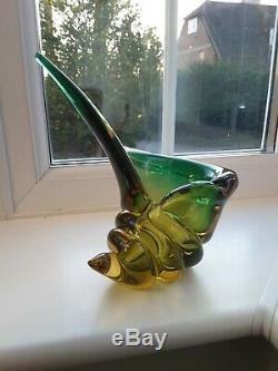 Vintage Salviati Murano Shell Shaped Art Glass Bowl C1960's