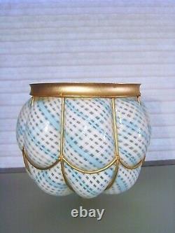 Vintage Seguso Murano Latticino Glass Shade