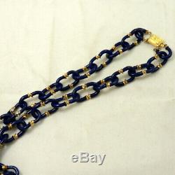 Vintage Signed Archimede Seguso Venetian Murano Glass Chain Necklace for Chanel