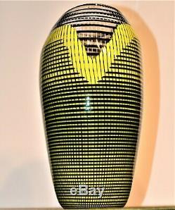 Vintage Signed Lino Tagliapietra Effetre International Murano Italy Glass Vase
