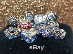 Vintage Sterling Silver 31 Chamilia Charms Swarovski Enamel Murano Glass Lot