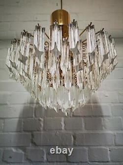 Vintage Stylish Italian Novaresi Chandelier Murano Glass 41cm Diam